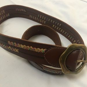 Lucky Brand Large Leather Belt